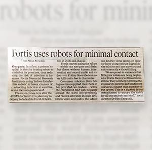 Fortis, Gurgaon deploys Milagrow Robots