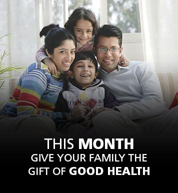 This month give your family the gift of good health